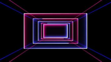 neon 3d kamer looping technologie achtergrond video