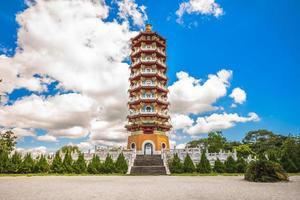 pagoda ci en cerca del lago sun-moon en nantou, taiwán foto