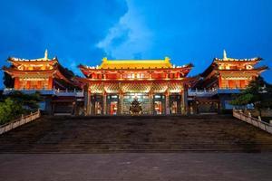 Night scene of Wen Wu Temple in Nantou, Taiwan photo