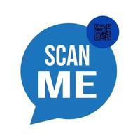 Vector scan QR code for smartphone icon symbol on white background.