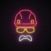 Builder neon sign. vector