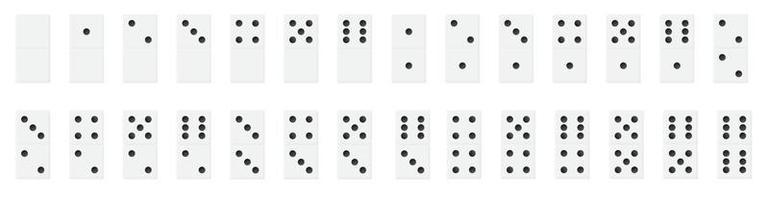 Ilustración de vector de dominó realista negro plástico eps10