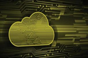 cloud computing cyber circuit future technology concept background vector