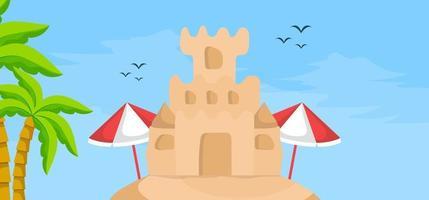 Summer banner template vector illustration for social media
