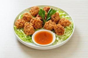 Boiled Shrimp Balls with Spicy Sauce photo