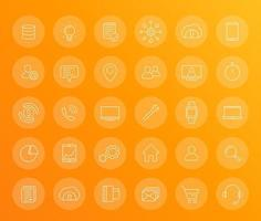 commerce linear icons vector