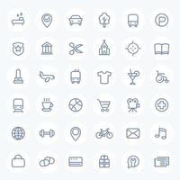 Line icons set for maps vector