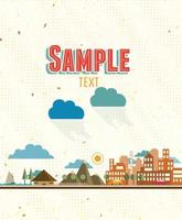 Floral sample text background vector