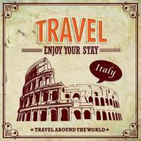 Travel poster design vector