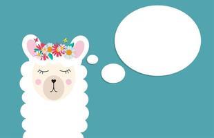 Little cute llama for card and shirt design. Vector Illustration EPS10
