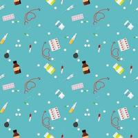 Colorful Health Medical Background. Seamless pattern. Vector Illustration