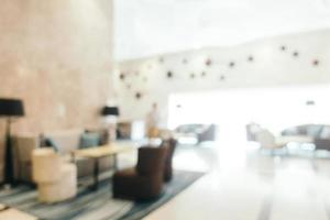 Abstract blur defocused hotel and lobby interior photo