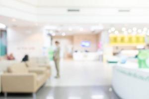 Hospital y clínica de desenfoque abstracto foto