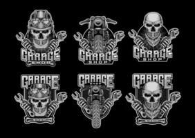 Set Bundle Garage Shop Logo Vector