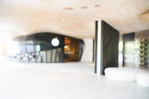 Abstract blur hotel lobby interior photo