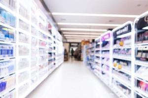 Abstract blur supermarket photo