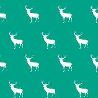 Abstract Seamless deer pattern background. Vector Illustration