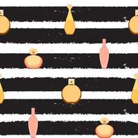 Seamless Pattern of perfume and adekalon bottle. Vector Illustration