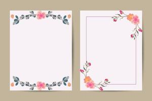 background template with copy space for text and images design line arts ,flower, invitation design background. vector