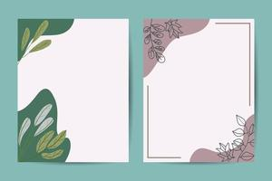 Banner on flower background. Wedding Invitation, modern card Design. Save the Date Card Templates Set with Greenery, Decorative Floral and Herbs Element. Vintage Botanical. eps 10 vector