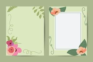 Warm tones. Orange, brown, cream, beige, sepia autumn colors. Rose flowers, dahlia, ranunculus, pampas grassVector floral frame. Abstract trendy universal artistic background template . Good for cover, invitation, banner, placard, brochure, poster, card, vector