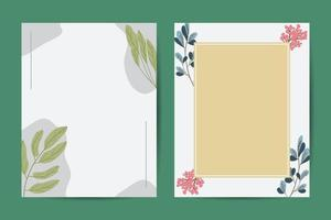Warm tones. Orange taupe, brown, cream, beige, sepia autumn colors. Rose flowers, dahlia, ranunculus, pampas grassBanner on flower background. Wedding Invitation, modern card Design. Save the Date Card Templates Set with Greenery, Decorative Floral and He vector