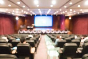 Salón de audiencias y conferencias borrosas foto