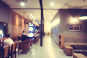 restaurante y cafetería borrosa abstracta foto