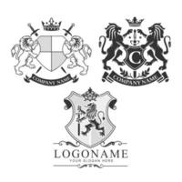 Coat of Arms, Lion Crest set, bundle vector