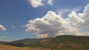 Beautiful Summer Rain Steppe Mountain Clouds Footage video