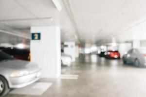 estacionamiento de automóviles borroso abstracto foto