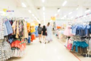 Abstract blur and bokeh supermarket and discount store interior photo