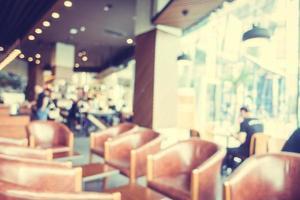 abstracto desenfocado con desenfoque y bokeh en cafetería foto