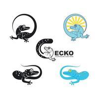 Gecko vector icon illustration design