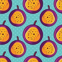 passion fruit seamless pattern illustration vector