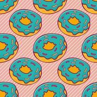 donut food seamless pattern illustration vector