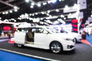 Abstract blur and defocused car and motor exhibition show photo