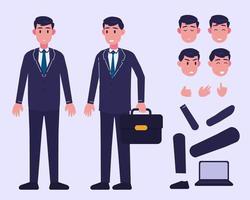 Businessman character for animation vector