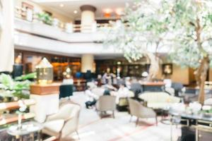 Abstract blur and defocused luxury hotel and lobby interior photo