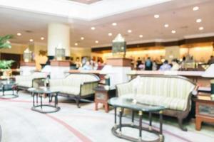 Desenfoque abstracto y hotel de lujo desenfocado y el interior del vestíbulo foto