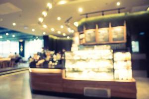 Desenfoque abstracto y restaurante desenfocado y café interior foto