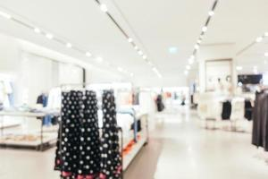 Abstract blur and defocused shopping mall of deparment store interior photo