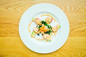 Tuna roll with avocado salad photo