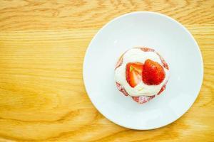 Sweet dessert with strawberry tart photo