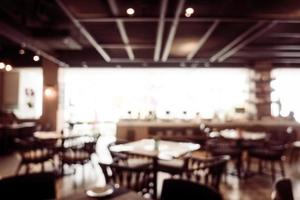 Abstract blur and defocused coffee shop cafe and restaurant interior photo