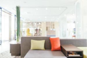 Desenfoque abstracto y vestíbulo y salón del hotel desenfocado foto