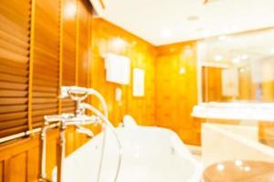 Desenfoque abstracto y baño y baño desenfocado. foto