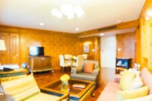 Desenfoque abstracto e interior desenfocado de la sala de estar foto