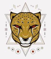 Cheetah Head mascot vector
