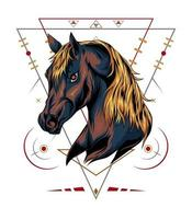 vector horse illustration. animal design template for apparel, clothing.